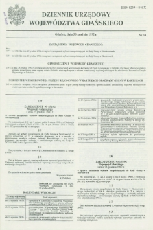 Dziennik Urzędowy Województwa Gdańskiego. 1992, nr 24 (30 grudnia)