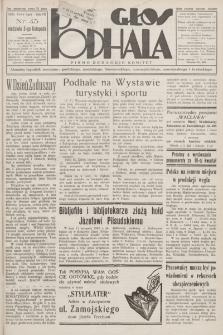 Głos Podhala : aktualny tygodnik powiatów: gorlickiego, jasielskiego, limanowskiego, nowosądeckiego, nowotarskiego i żywieckiego. 1935, nr 45