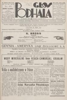 Głos Podhala : aktualny tygodnik powiatów: gorlickiego, jasielskiego, limanowskiego, nowosądeckiego, nowotarskiego i żywieckiego. 1935, nr 49
