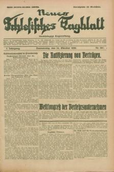 Neues Schlesisches Tagblatt : unabhängige Tageszeitung. Jg.2, Nr. 287 (24 Oktober 1929)