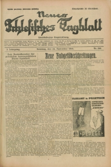 Neues Schlesisches Tagblatt : unabhängige Tageszeitung. Jg.2, Nr. 316 (24 November 1929)