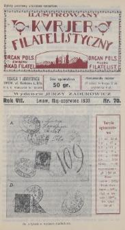 Ilustrowany Kurjer Filatelistyczny : organ Pols. Związku Akad. Filatel. : organ Pols. Klubu Filatelist. 1930, nr70