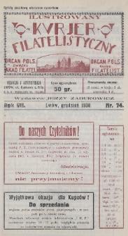 Ilustrowany Kurjer Filatelistyczny : organ Pols. Związku Akad. Filatel. : organ Pols. Klubu Filatelist. 1930, nr74