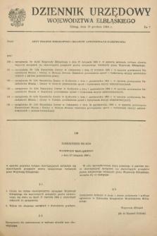 Dziennik Urzędowy Województwa Elbląskiego. 1984, nr 7 (19 grudnia)