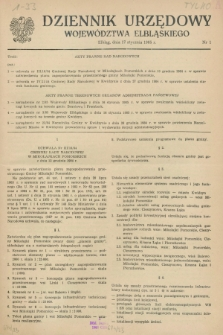 Dziennik Urzędowy Województwa Elbląskiego. 1985, nr 1 (17 stycznia)