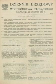 Dziennik Urzędowy Województwa Elbląskiego. 1985, nr 2 (28 stycznia)