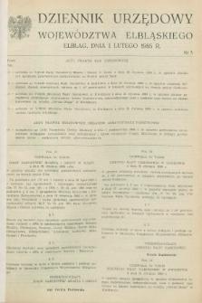Dziennik Urzędowy Województwa Elbląskiego. 1985, nr 3 (1 lutego)