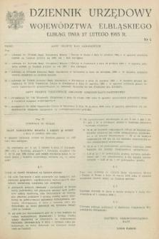 Dziennik Urzędowy Województwa Elbląskiego. 1985, nr 4 (27 lutego)