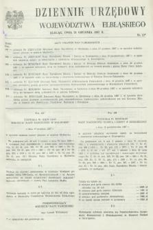 Dziennik Urzędowy Województwa Elbląskiego. 1987, nr 18 (31 grudnia)