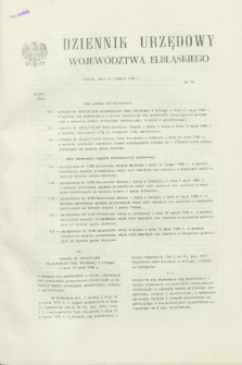 Dziennik Urzędowy Województwa Elbląskiego. 1988, nr 16 (15 czerwca)