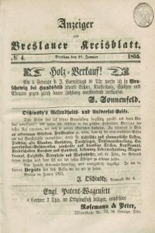 Anzeiger zum Breslauer Kreisblatt. 1855, № 4 (27 Januar)