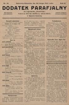 """Dodatek Parafjalny do tygodnika """"Niedziela"""" Parafji Matki Boskiej Anielskiej wDąbrowie-Górniczej. 1935, nr52"""