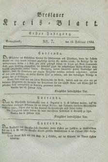 Breslauer Kreis-Blatt. Jg.1, № 7 (15 Februar 1834)
