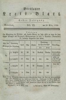 Breslauer Kreis-Blatt. Jg.1, № 13 (29 März1834)