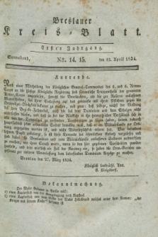 Breslauer Kreis-Blatt. Jg.1, № 14/15 (12 April 1834)