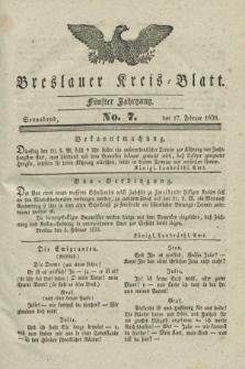 Breslauer Kreis-Blatt. Jg.5, № 7 (17 Februar 1838)