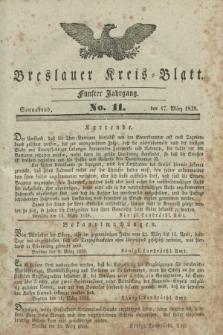 Breslauer Kreis-Blatt. Jg.5, No. 11 (17 März 1838)