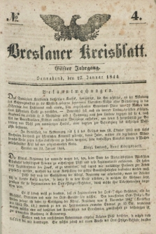 Breslauer Kreisblatt. Jg.11, № 4 (27. Januar 1844)
