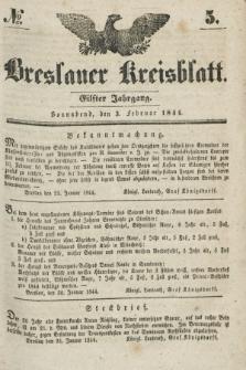 Breslauer Kreisblatt. Jg.11, № 5 (3 Februar 1844)