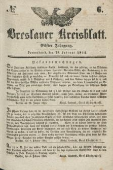 Breslauer Kreisblatt. Jg.11, № 6 (10. Februar 1844)