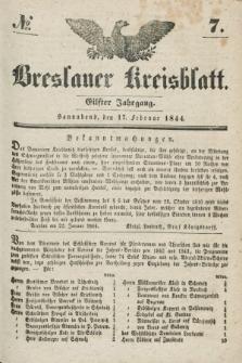 Breslauer Kreisblatt. Jg.11, № 7 (17 Februar 1844)