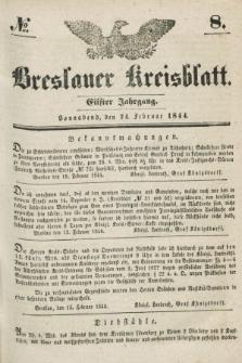 Breslauer Kreisblatt. Jg.11, № 8 (24 Februar 1844)