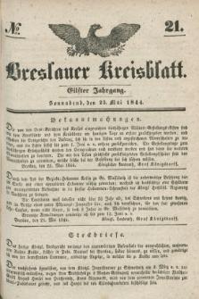 Breslauer Kreisblatt. Jg.11, № 21 (25 Mai 1844)