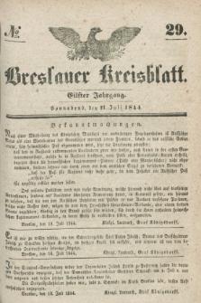 Breslauer Kreisblatt. Jg.11, № 29 (21 Juli 1844)