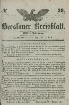 Breslauer Kreisblatt. Jg.11, № 36 (7 September 1844)