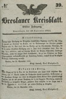Breslauer Kreisblatt. Jg.11, № 39 (28 September 1844)