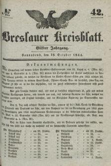 Breslauer Kreisblatt. Jg.11, № 42 (19 October 1844)
