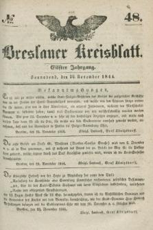 Breslauer Kreisblatt. Jg.11, № 48 (30 November 1844)