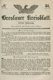 Breslauer Kreisblatt. Jg.11, № 51 (21 Dezemeber 1844)