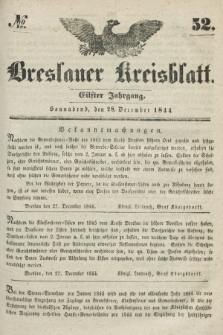 Breslauer Kreisblatt. Jg.11, № 52 (28 December 1844)