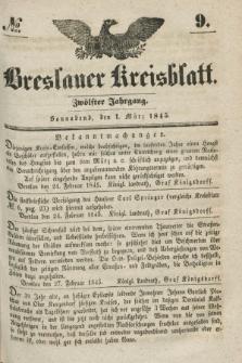 Breslauer Kreisblatt. Jg.12, № 9 (1 März 1845)