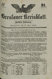 Breslauer Kreisblatt. Jg.12, № 21 (24 Mai 1845)