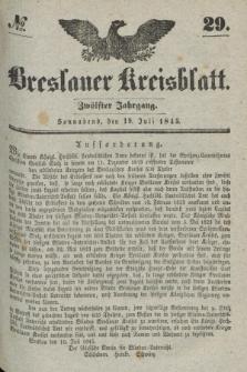 Breslauer Kreisblatt. Jg.12, № 29 (19 Juli 1845)