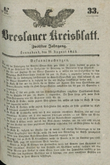 Breslauer Kreisblatt. Jg.12, № 33 (16 August 1845)