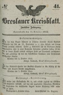Breslauer Kreisblatt. Jg.12, № 41 (11 Oktober 1845)