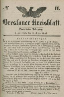 Breslauer Kreisblatt. Jg.13, № 11 (14 März 1846)