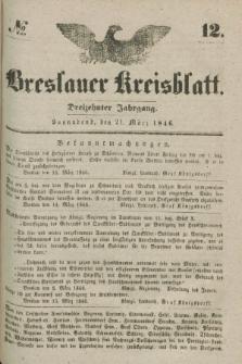 Breslauer Kreisblatt. Jg.13, № 12 (21 März 1846)