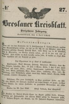 Breslauer Kreisblatt. Jg.13, № 27 (4 Juli 1846)