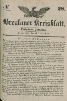 Breslauer Kreisblatt. Jg.13, № 28 (11 Juli 1846)