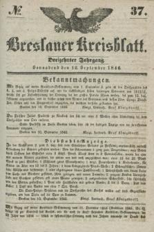 Breslauer Kreisblatt. Jg.13, № 37 (12 September 1846)