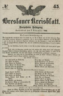 Breslauer Kreisblatt. Jg.13, № 45 (7 November 1846)