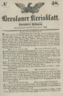 Breslauer Kreisblatt. Jg.13, № 48 (28 November 1846)