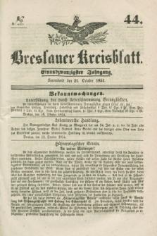 Breslauer Kreisblatt. Jg.21, № 44 (21 October 1854)