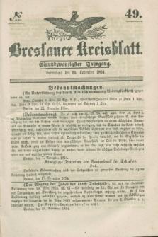 Breslauer Kreisblatt. Jg.21, № 49 (25 November 1854)
