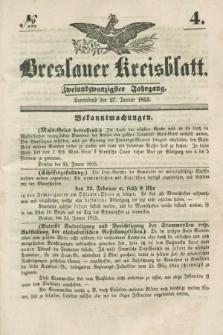 Breslauer Kreisblatt. Jg.22, № 4 (27 Januar 1855) + dod.