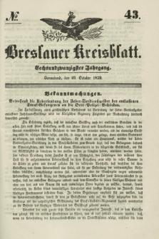Breslauer Kreisblatt. Jg.26, № 43 (29 October 1859)